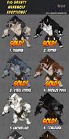 Big Grunty Werewolf Adoptions! Set 2!