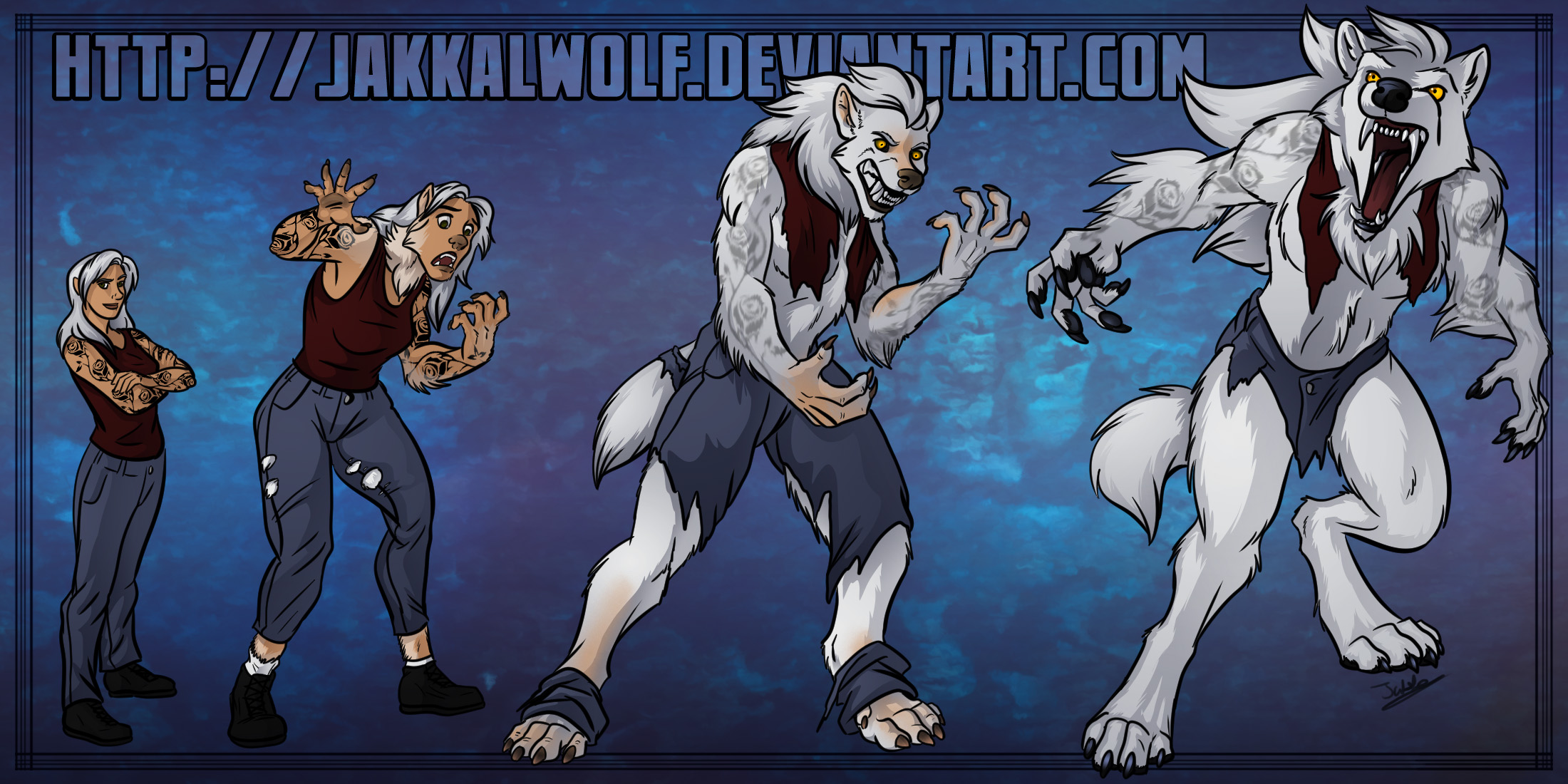 YCH: Week 5 - Callie the Werewolf by JakkalWolf on DeviantArt