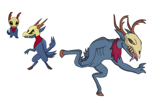 Fanart: Deeric, Skulter, Candigo by Rampage546