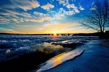 Ice On The Susquehanna River