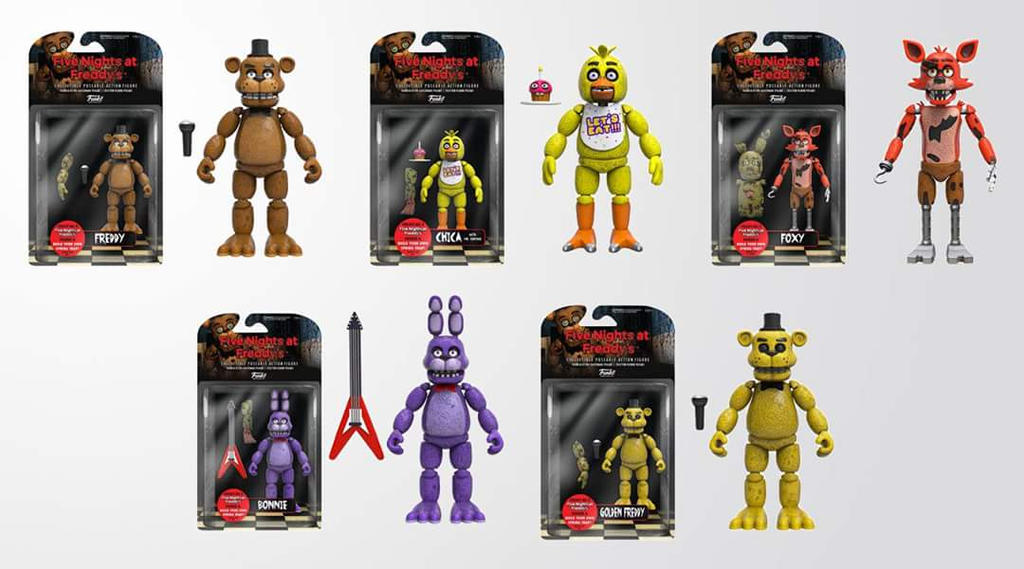 Fnaf action figures for sale by eyeofpeace on deviantart