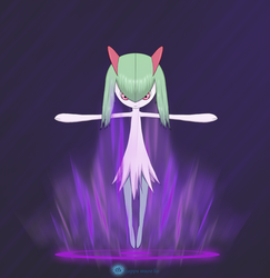 Kirlia initiates Psycho wave