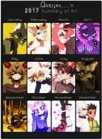 2017 summary of art by Queijac