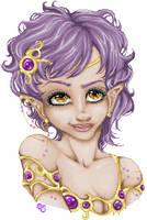 Purple pixel nymph by Saffyrex