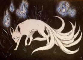 Nine tailed fox by CatEyeLeachie