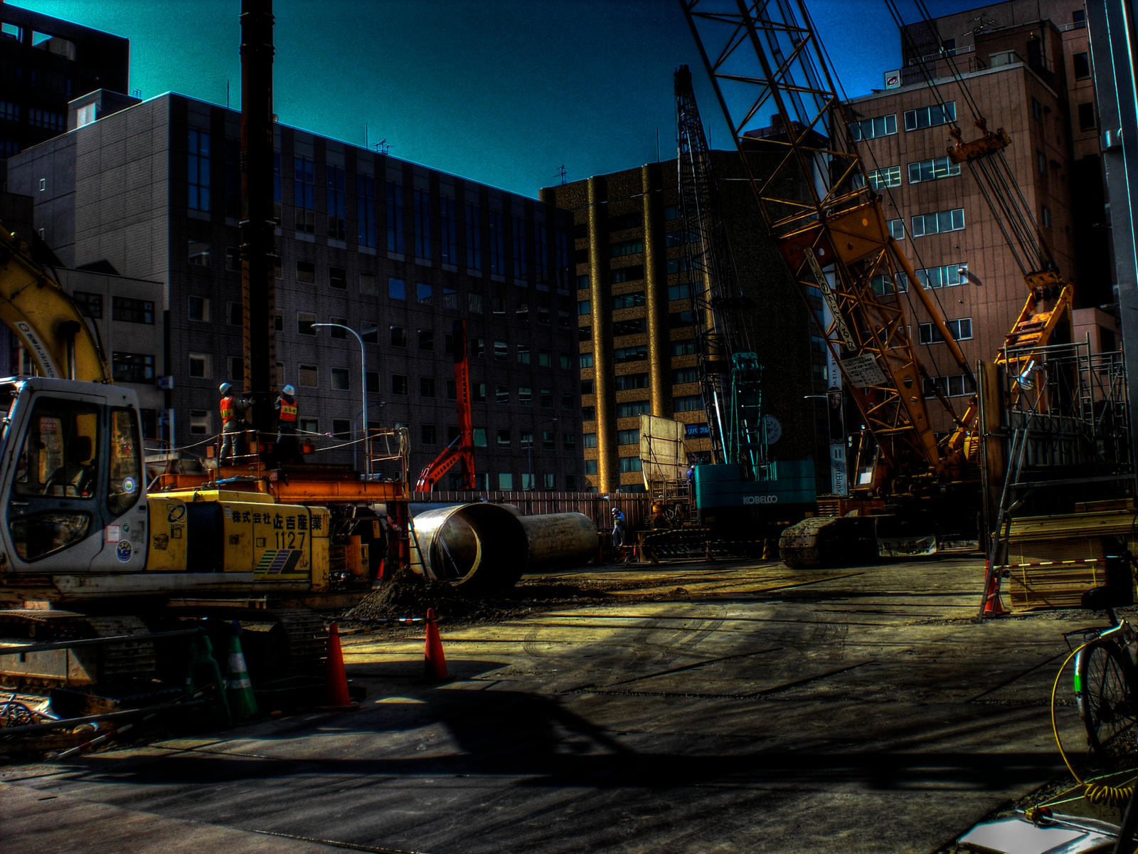 Construction Site HDR By Mertzin On DeviantArt