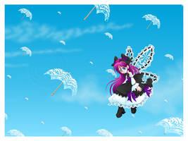 Flight of the Parasols by clrkrex