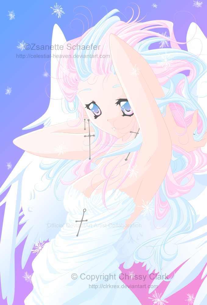 Collab-Candy Floss Angel by clrkrex