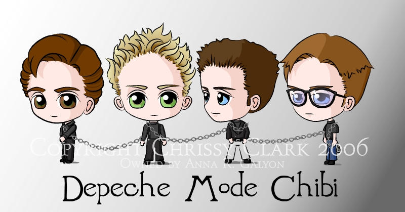 Depeche Mode Chibi by clrkrex