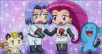 Kawaii chibi Team Rocket by Mareanie2003