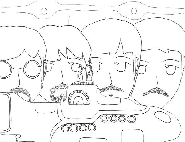 Beatles Yellow Submarine Coloring Pages Sketch Coloring Page Yellow Submarine Coloring Pages