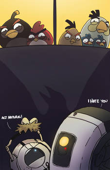 Portal meets Angry Birds