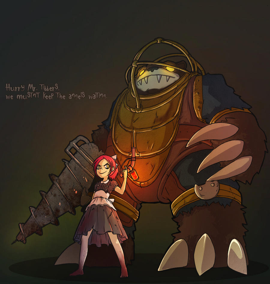 Look Mr Tibbers, angels by Gladosy