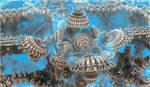 creative bulb in ocean