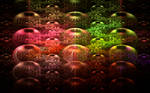 earth with colourful lamps