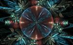 bluered flower bubble