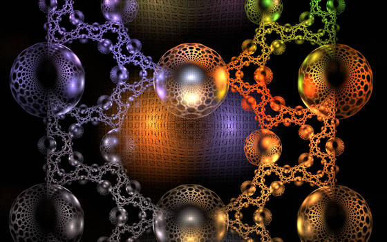 glass bubbles with different pattern