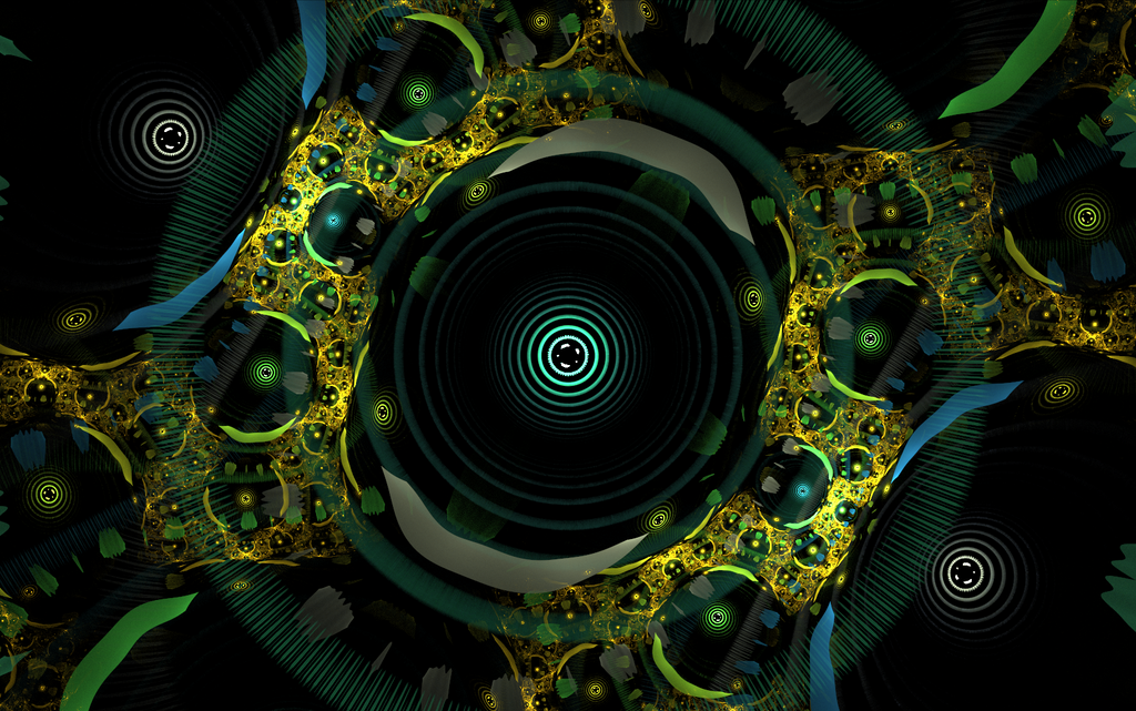 greenyellow abstract pattern by Andrea1981G