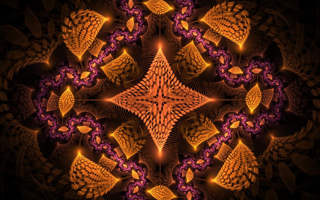 violet orange pattern by Andrea1981G