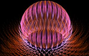 pinkorange glass ball by Andrea1981G
