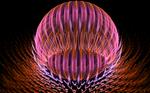 pinkorange glass ball