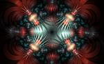 redsilver metallic pattern