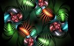 metallic stripe spirals