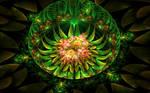 creatvie green flower creation