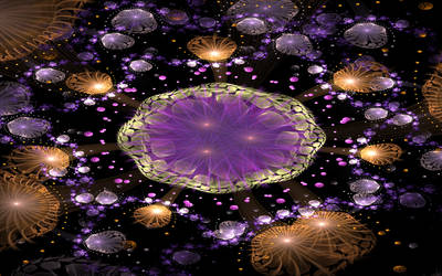 shiny violet magical place by Andrea1981G