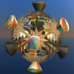 colourful metallic diamonds
