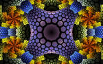 colourful pattern with hexes plates