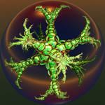 green metallic plant