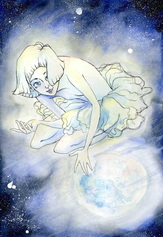 I and the Moon by slickeri
