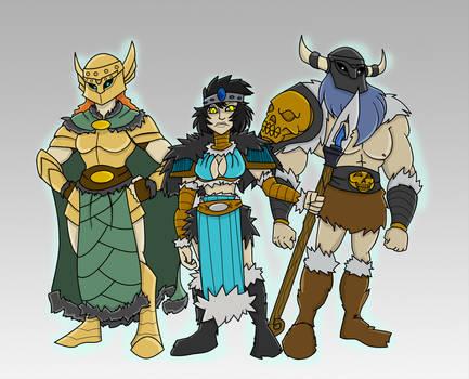 Barbarian Princess and Guardians