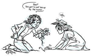 Gardening with Fitzroy by Alligator-Jesie