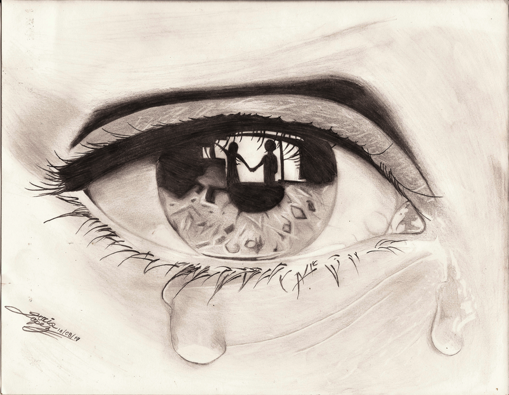 Unrequited love, Crying eye
