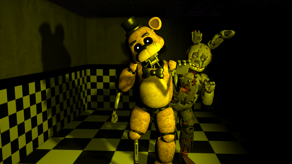 Withered Golden Freddy (FNAF 1 edition) by candy-x-cindy ...