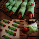 Witch Finger Cookies by kaydered