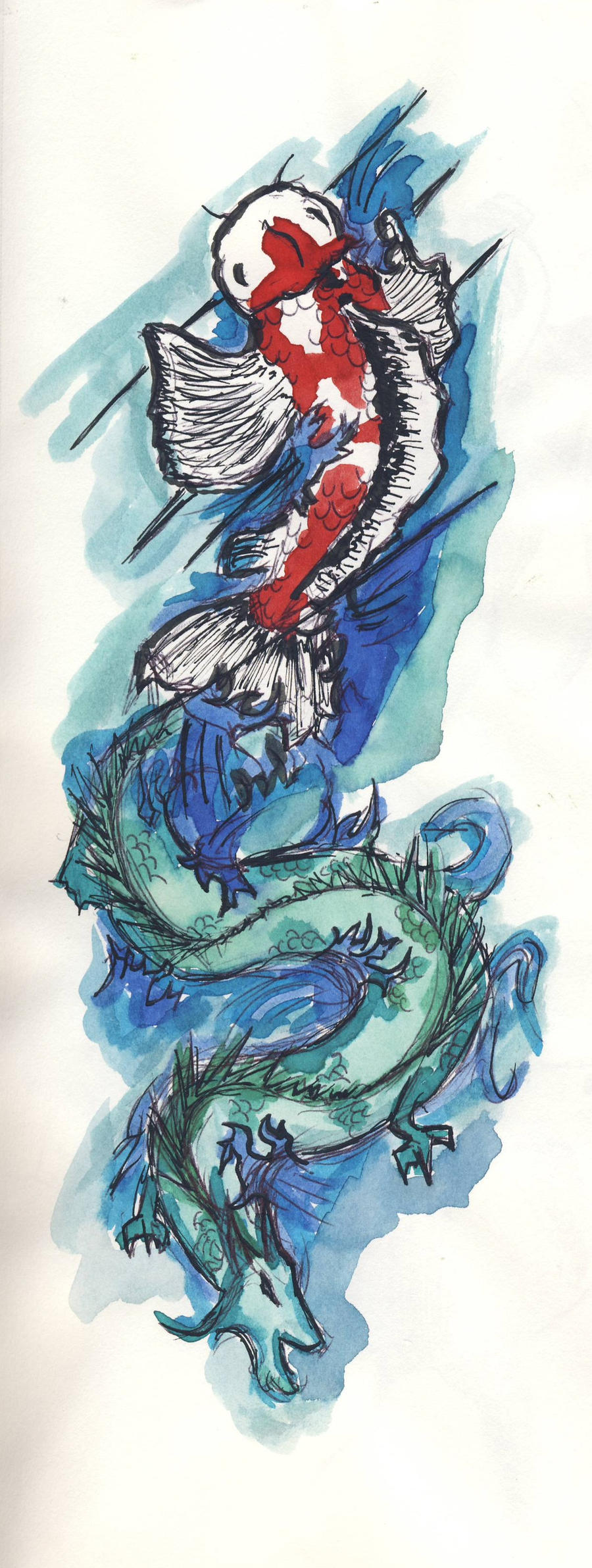 Koi-Fish Dragon Tattoo Concept by CarolineWhitman on ...