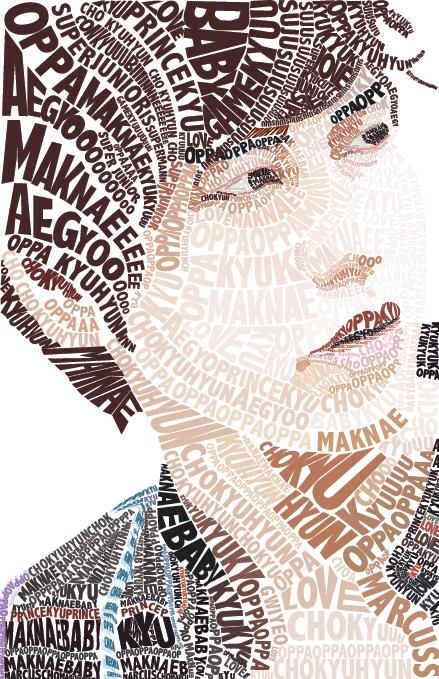 Kyuhyun Typography Portrait by retromicha