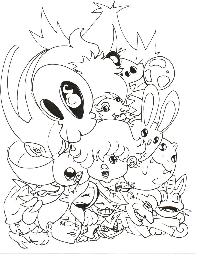 Kawaii Pokemon Coloring Pages Coloring Pages