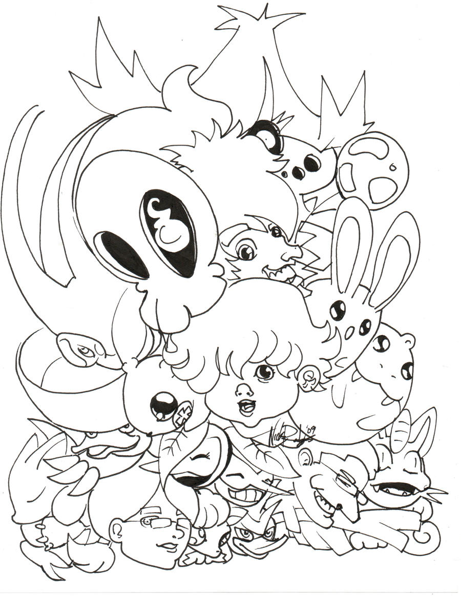 Cute pkmn coloring page time by nick is safferion on for Cute pokemon coloring pages