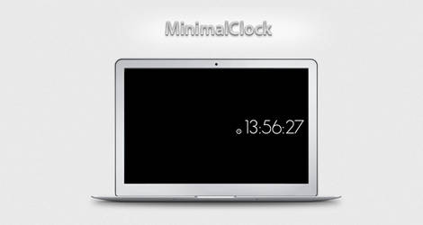 MinimalClock screen saver by optiv-flatworms