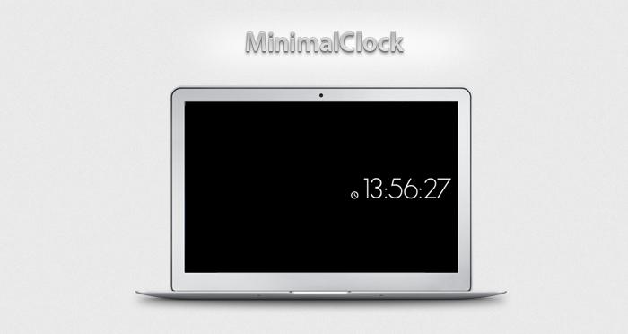 MinimalClock screen saver
