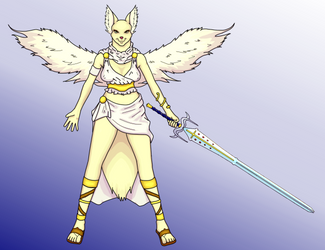 Angel Folf Colored by StenFox