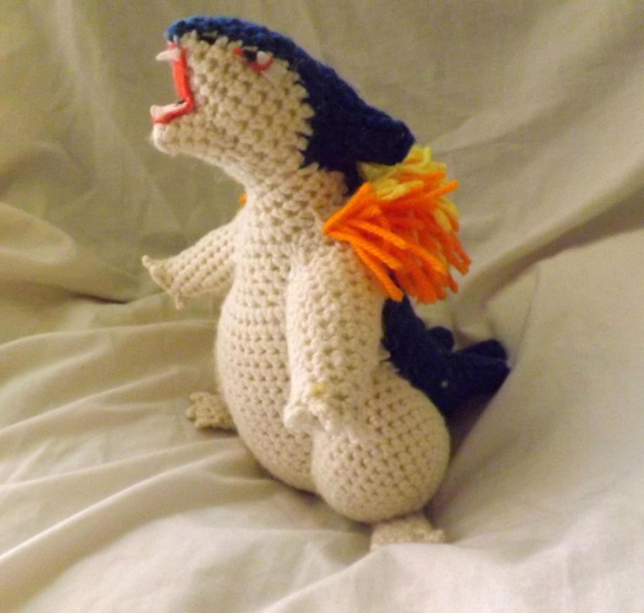 Typhlosion Crochet Plushie by PixelCrochet