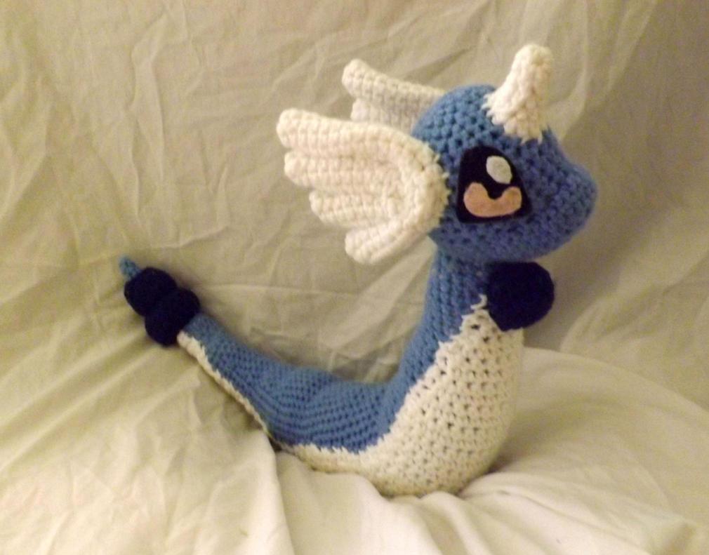 Dragonair Plushie by PixelCrochet