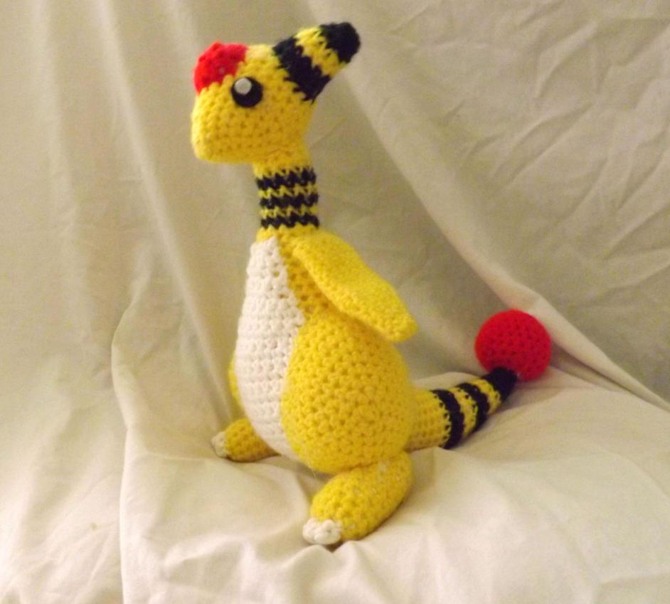 Ampharos Crochet by PixelCrochet