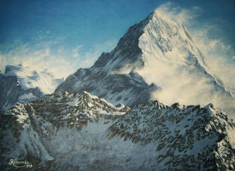 Portrait of the Mountain: Annapurna by Caremey