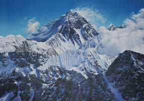 Portrait of the Mountain: His Majesty Mt. Everest by Caremey